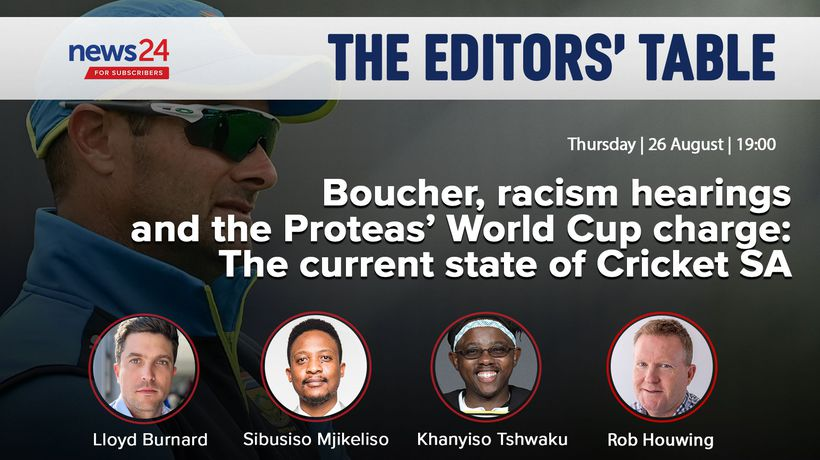 WATCH LIVE | Editors' Table: Boucher, racism hearings and the state of Cricket SA