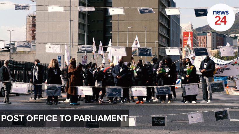 WATCH | Postcards and placards: Uyinene Foundation marches to Parliament seeking change
