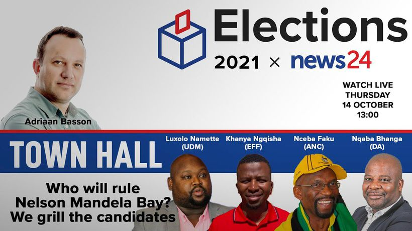 WATCH LIVE | TOWN HALL: Who will rule Nelson Mandela Bay? We grill the candidates