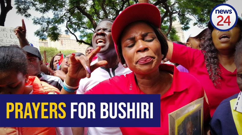 WATCH: Hundreds of Bushiri supporters picket outside court