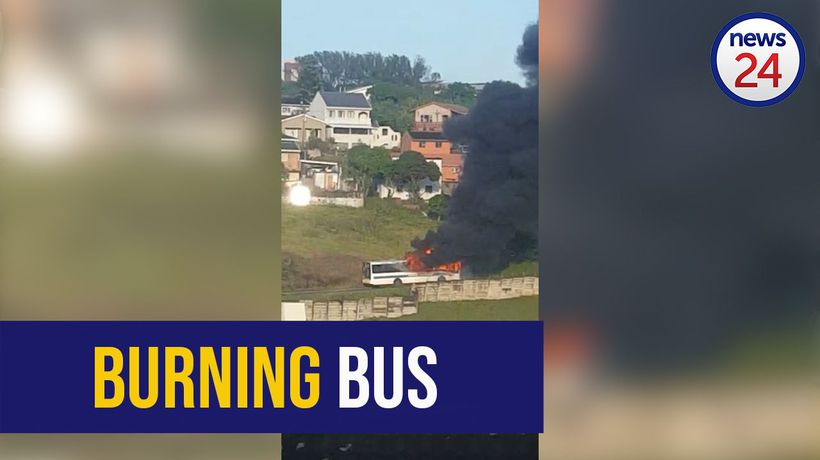 WATCH: Bus burnt as protests erupt in Durban