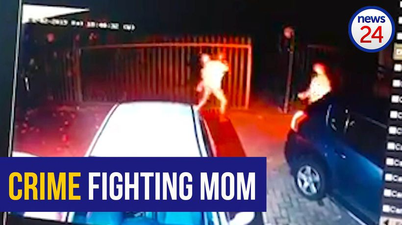 WATCH: Woman wards off hijackers with baby on her hip
