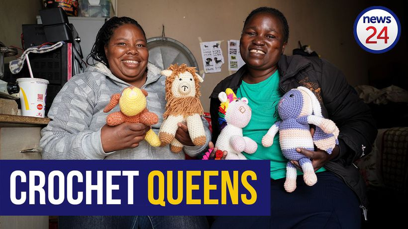 WATCH: Crocheting duo knit their way off the street with help from local businesswoman