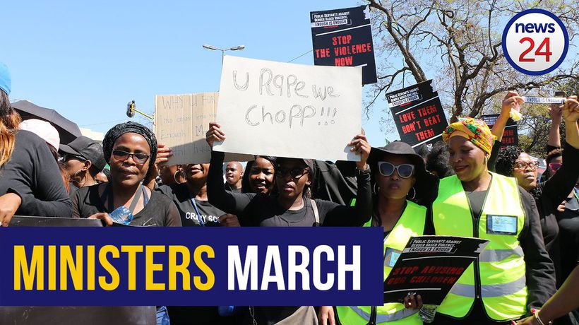WATCH | Public servants and ministers march against femicide in Pretoria