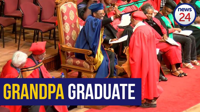 WATCH | 91-year-old grandpa graduate gets PhD, says he's not done yet!
