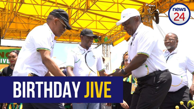 WATCH | Getting the party started: Cyril Ramaphosa busts a move at ANC's birthday bash