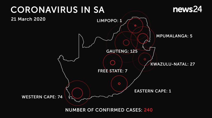 WATCH | 21 March: Eastern Cape confirms first case of Covid-19 as total number reaches 240