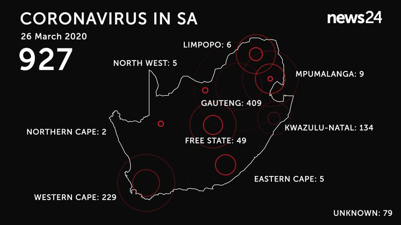 WATCH | 26 March: 927 confirmed cases of coronavirus in SA on eve of lockdown