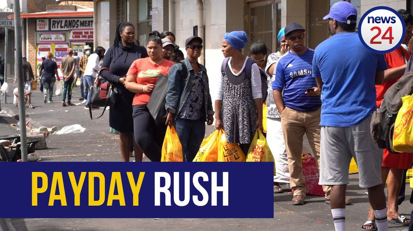 WATCH | Post payday rush: CT residents scramble for essentials in Athlone
