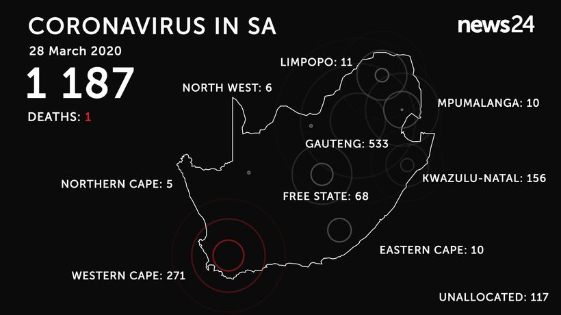 WATCH | 28 March: Coronavirus infections rise to 1 187