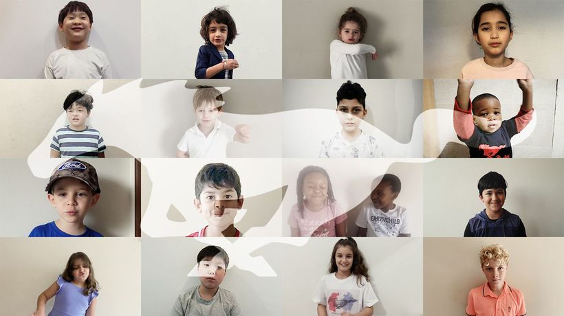 How cute is this?! Kids emulate Ford Mustang sound