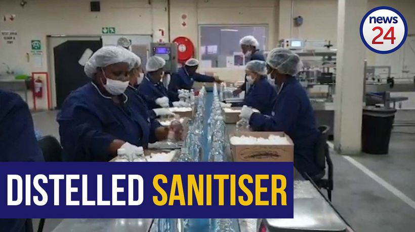 WATCH | Booze ban: distillery produces hand sanitiser to help fight Covid-19