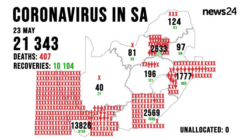 WATCH | 23 May: 10 more Covid-19 deaths and 1 218 new cases reported