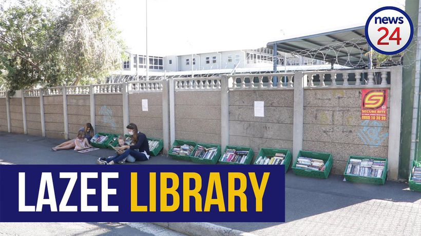 WATCH | Cape Town couple open 'pavement library' that offers free books to locals
