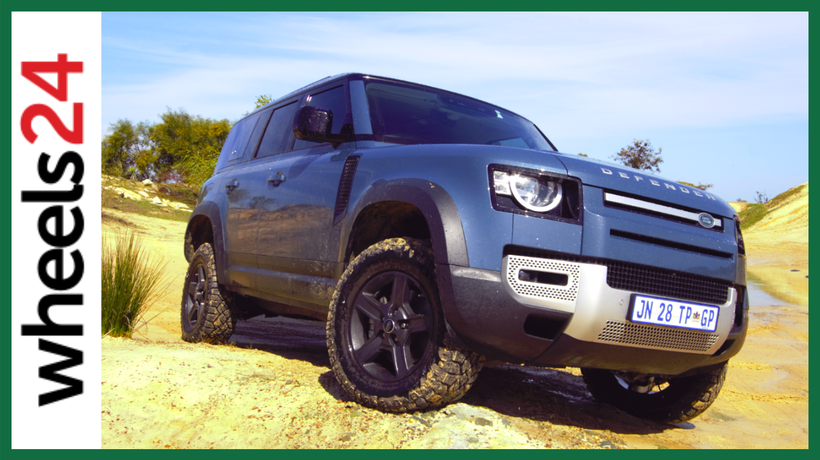 Tackling the rough stuff in Land Rover's all-new Defender