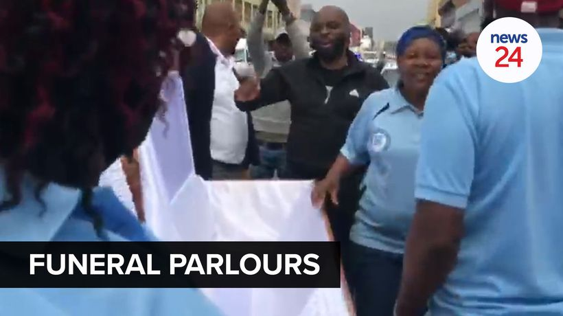 WATCH | Funeral parlours shut down in Durban protests