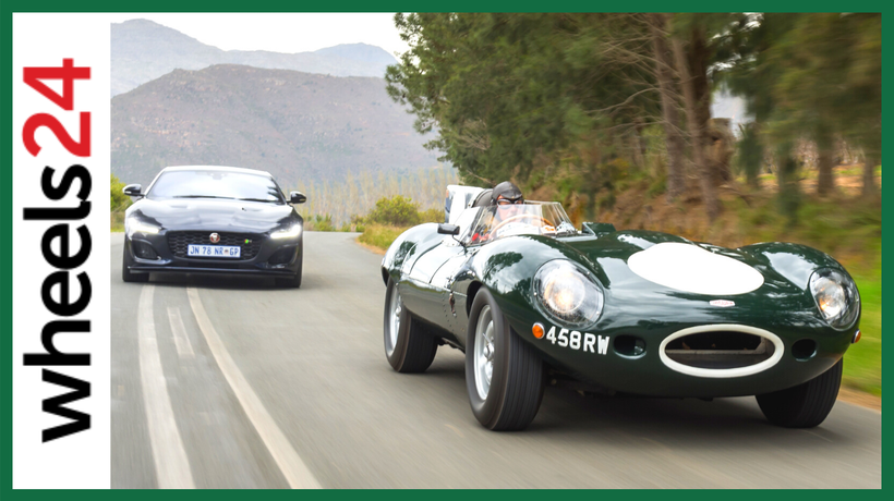 Jaguar's past meets its present: 1956 D-Type and 2020 F-Type