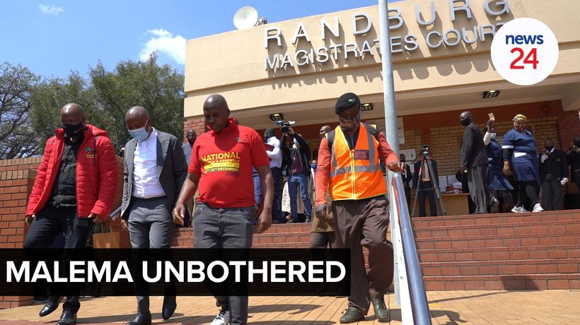 WATCH | 'Police get pushed all the time' - Malema after assault trial is postponed