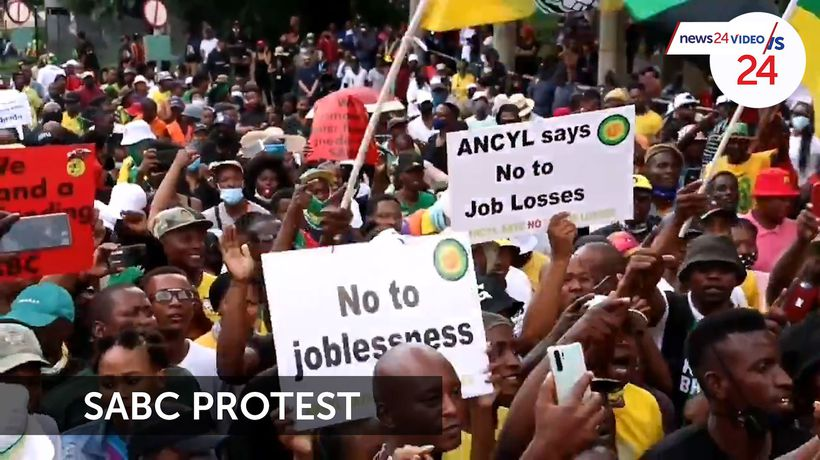 WATCH | ANC's Pule Mabe backs protesting SABC staff