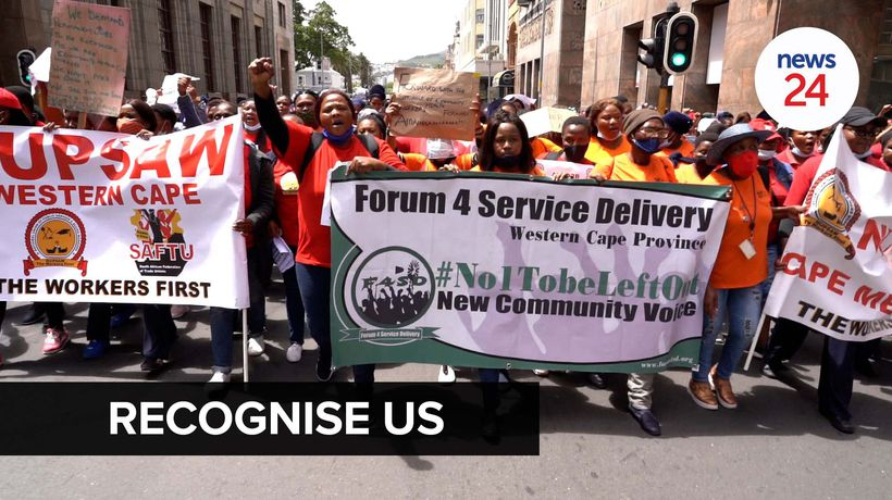 WATCH | 'We are not recognised': Healthcare workers protest pay and working conditions