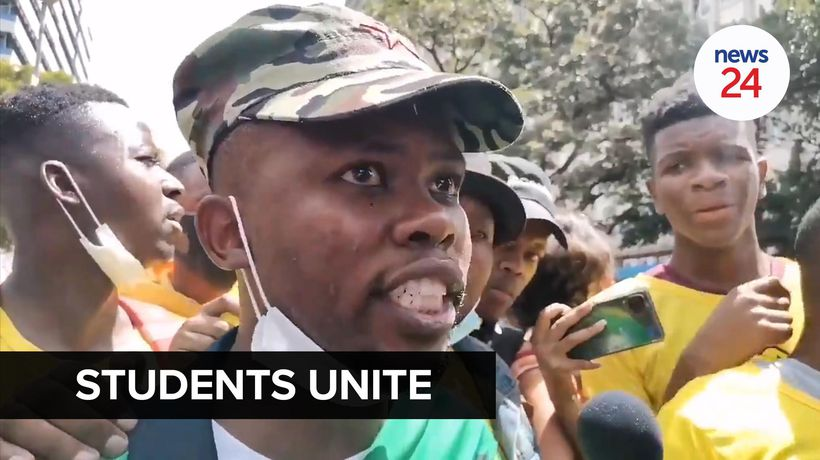 WATCH | Wits SRC president calls for students across the country to unite in fight against fees