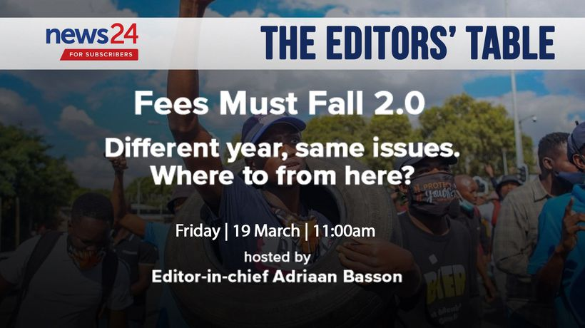 WATCH | The Editors' Table: Be part of our editors' meeting about the ongoing student protests