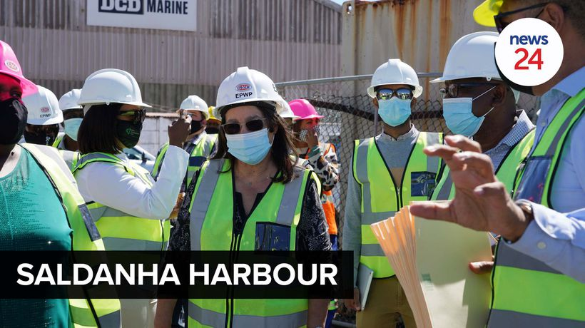 WATCH | Minister Patricia de Lille visits Saldanha Bay to inspect multimillion-rand harbour project