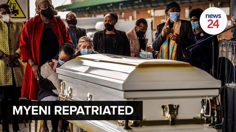 WATCH | Lindani Myeni's mortal remains arrive in South Africa from Hawaii