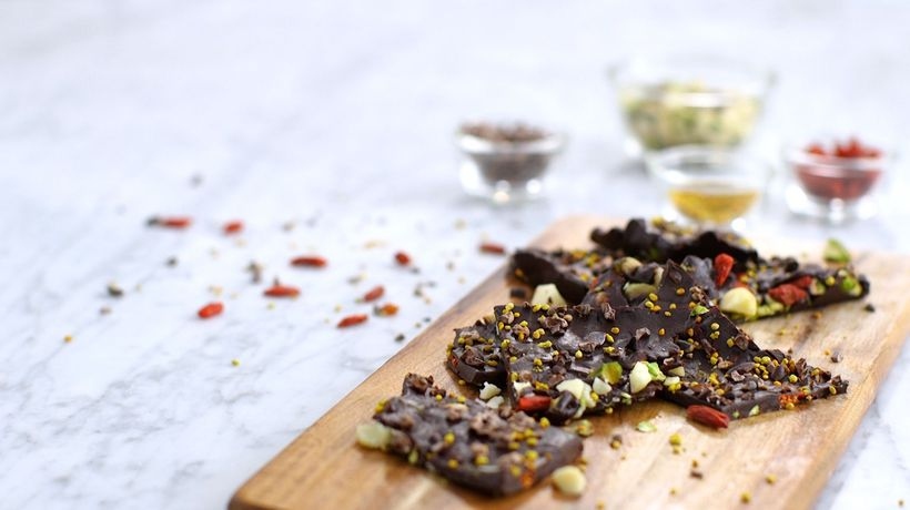 Aphrodisiac Boost - Nutty Dark Chocolate Bark