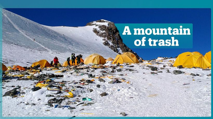 Losing battle to clean up Mount Everest