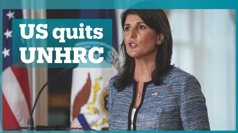 US quits 'biased' and 'hypocritical' UNHRC