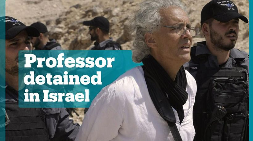 American-French professor arrested by Israeli troops