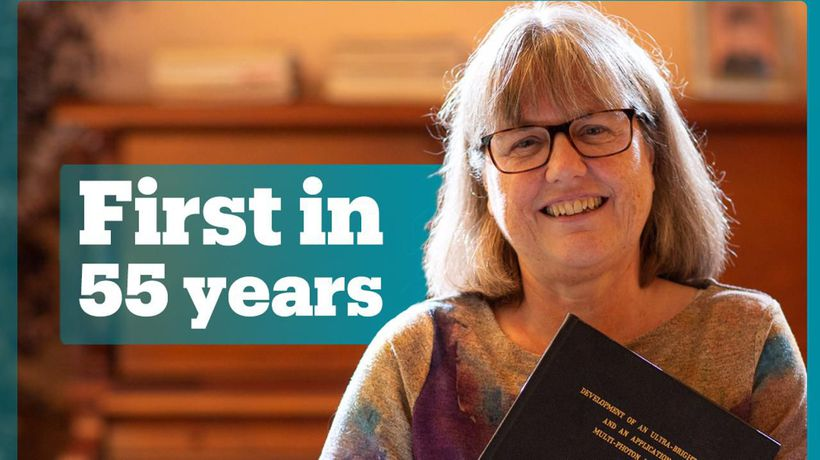 First woman to win Physics Nobel Prize in 55 years