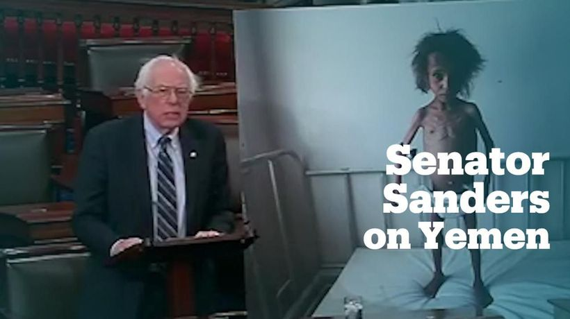 Bernie Sanders urges US Senate to end support for Saudi operations in Yemen