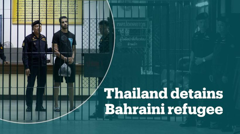 Refugee footballer from Bahrain detained in Thailand