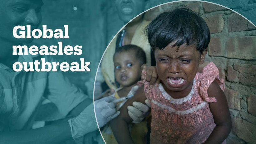Measles outbreak spread globally, with vaccine scare blamed