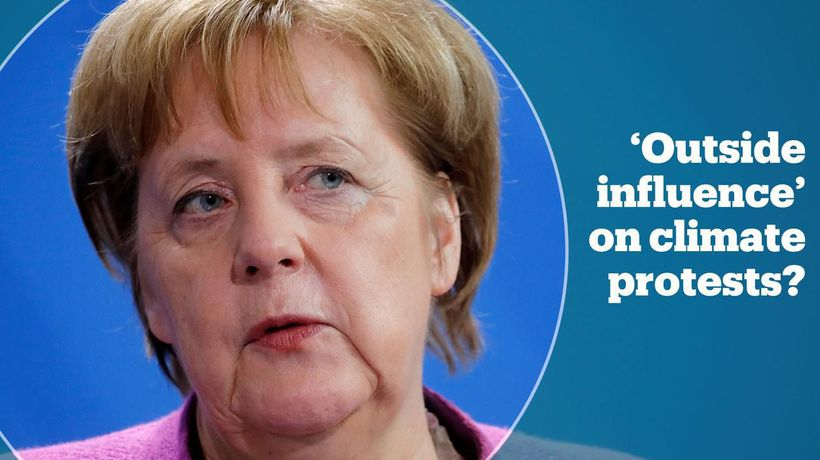 Merkel casts doubt on climate protests by school children