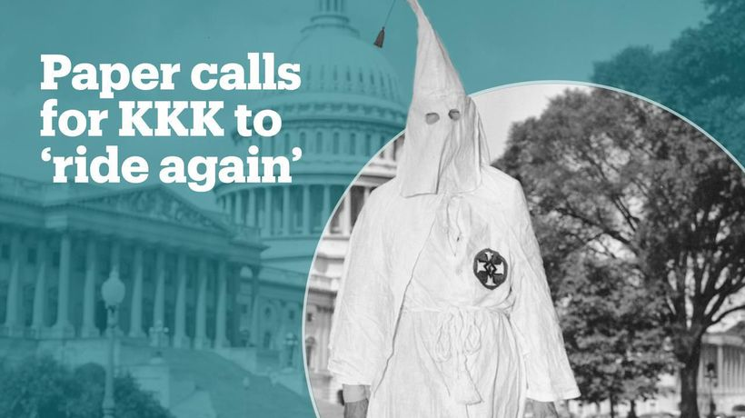 Alabama paper calls for the KKK to 'night ride' again