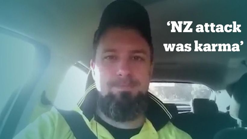 Australian far-right activist says NZ attack was 'karma'