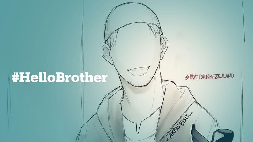 People remembering first victim of NZ terror attack with #HelloBrother