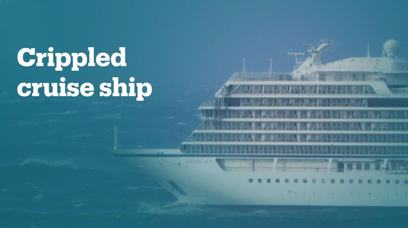 Luxury cruise ship stranded off the coast of Norway