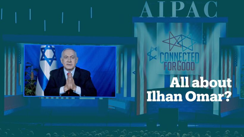 Ilhan Omar criticises Netanyahu for focusing on her in his AIPAC speech