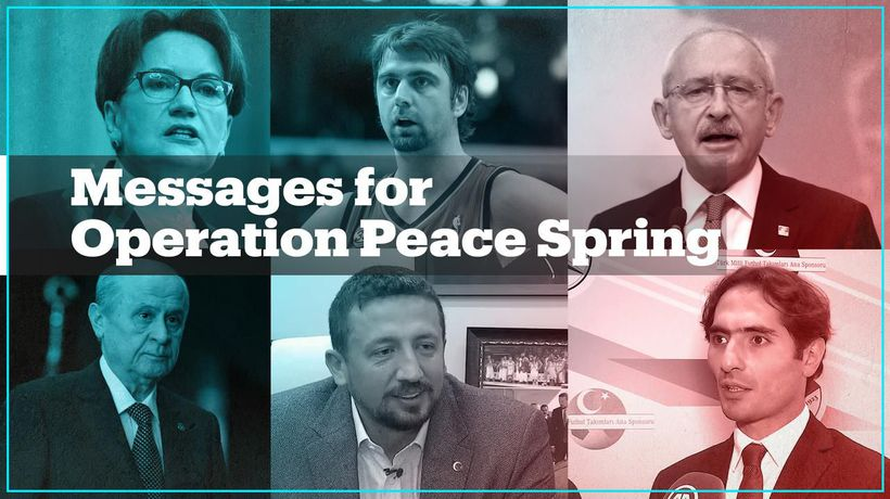 Politicians, celebrities and associations voice support for Turkey's operation
