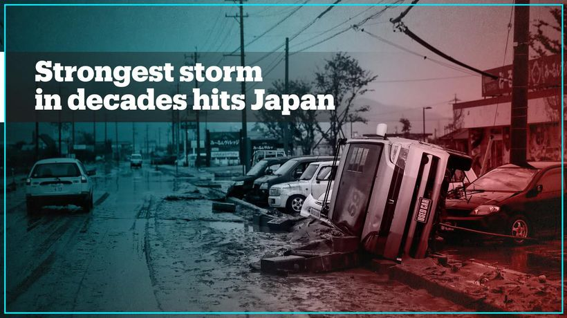 Japan hit by the strongest typhoon in decade