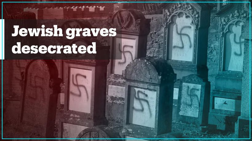 More than 100 Jewish graves defaced with Nazi swastikas in France
