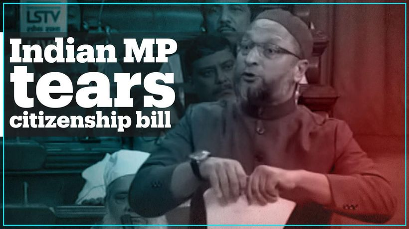Indian politician tears up controversial citizenship bill in Parliament