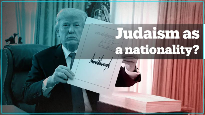 Trump turns Judaism into a nationality