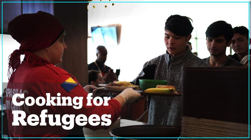What do refugees in Bosnia and Herzegovina eat?