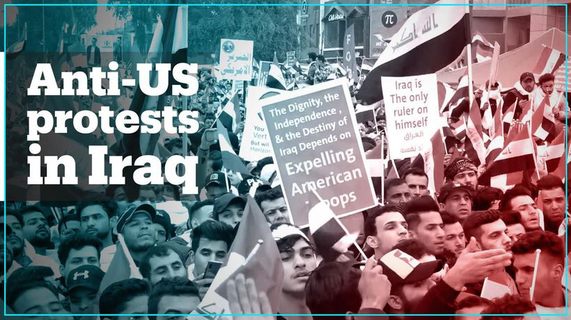 Iraqis protest against US military presence