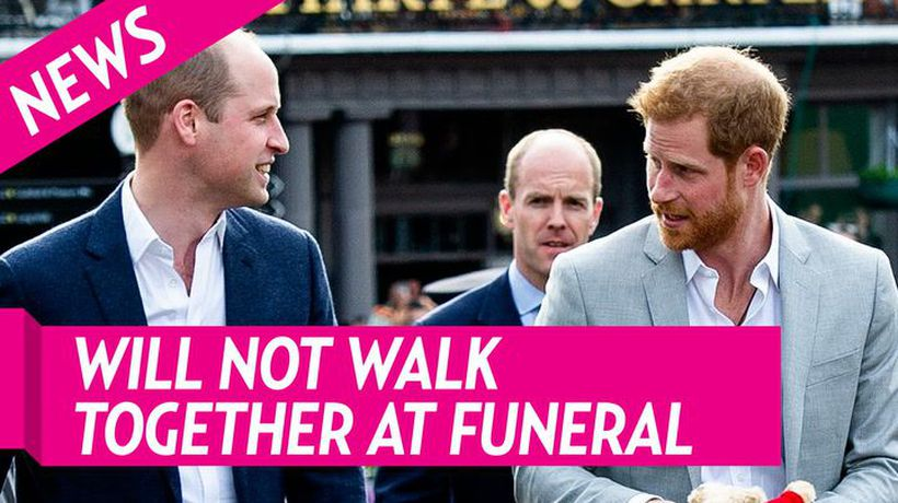 Prince Harry and Prince William Will Not Walk Next To Each Other At Prince Philip's Funeral